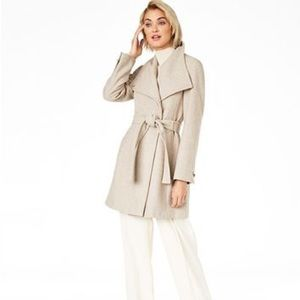 Calvin Klein Belted Toggle Wrap Coat NWT